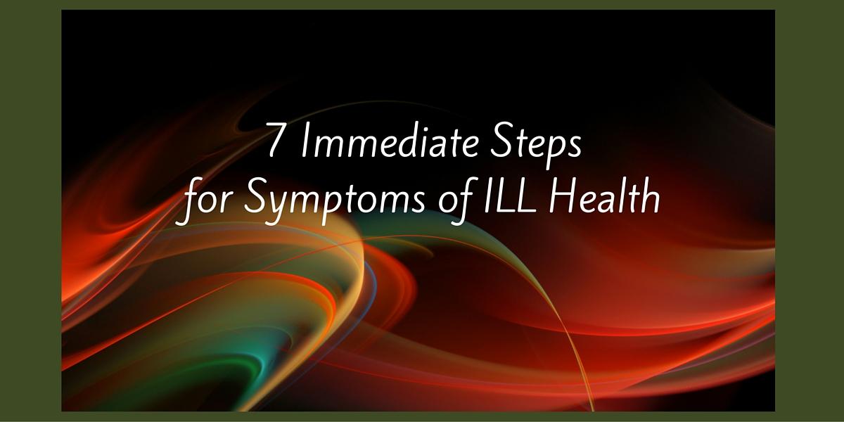 symptoms of ill health
